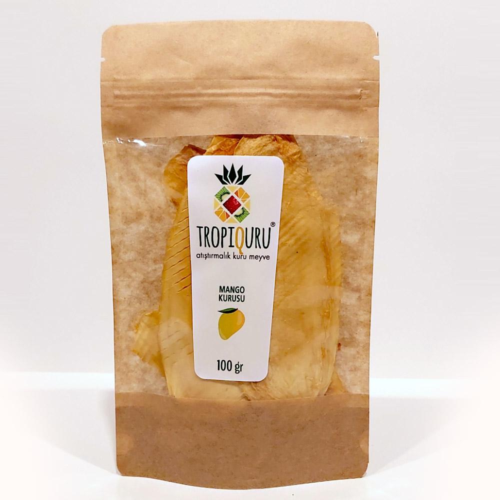 Tropiquru Atıştırmalık Dilimlenmiş Kurutulmuş Mango 100 G