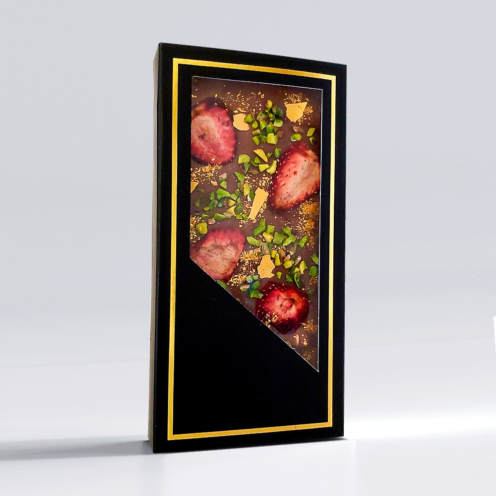 Sütlü Tablet Çilekli Çikolata